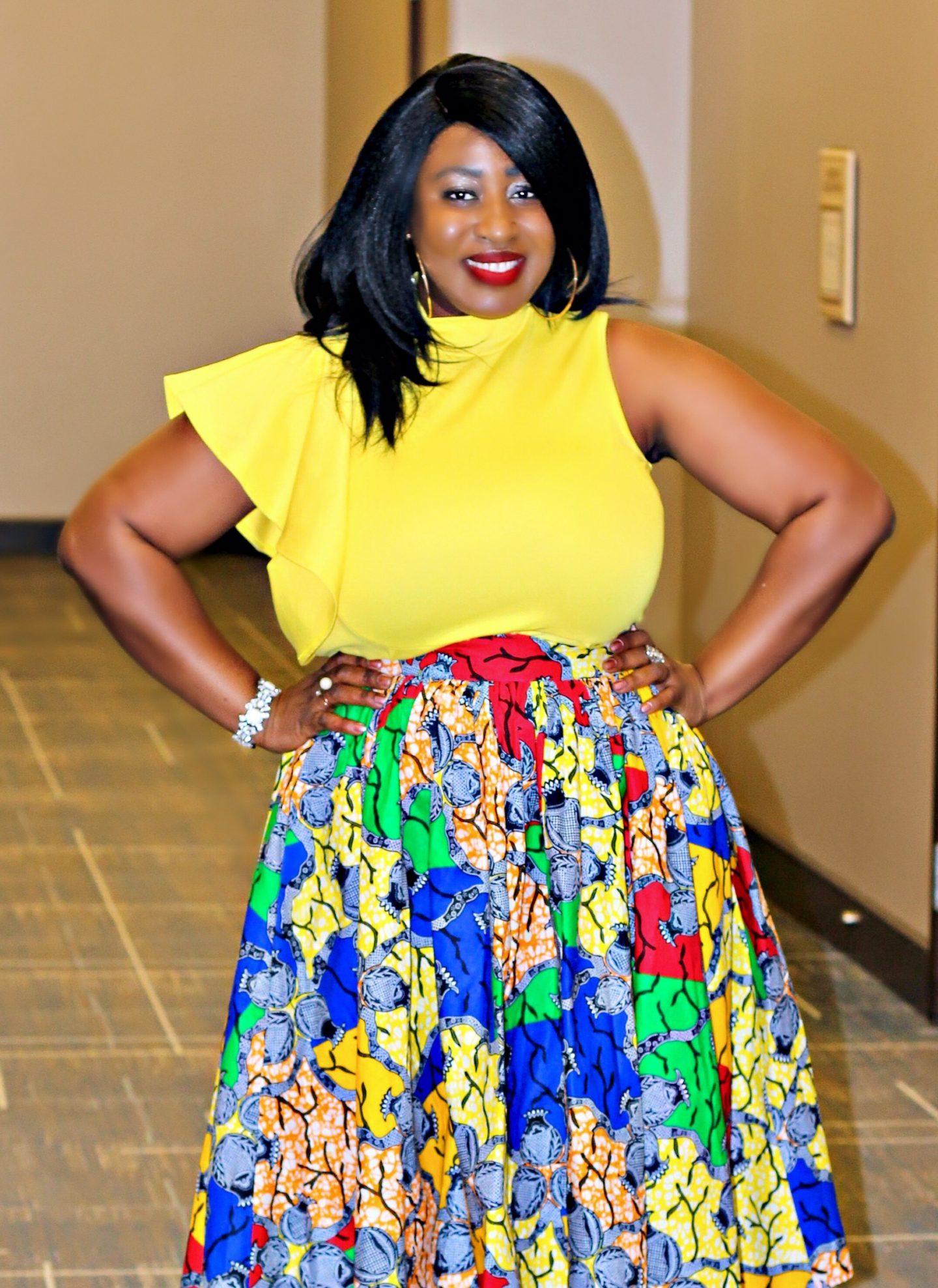 Multi Print Midi Skirt