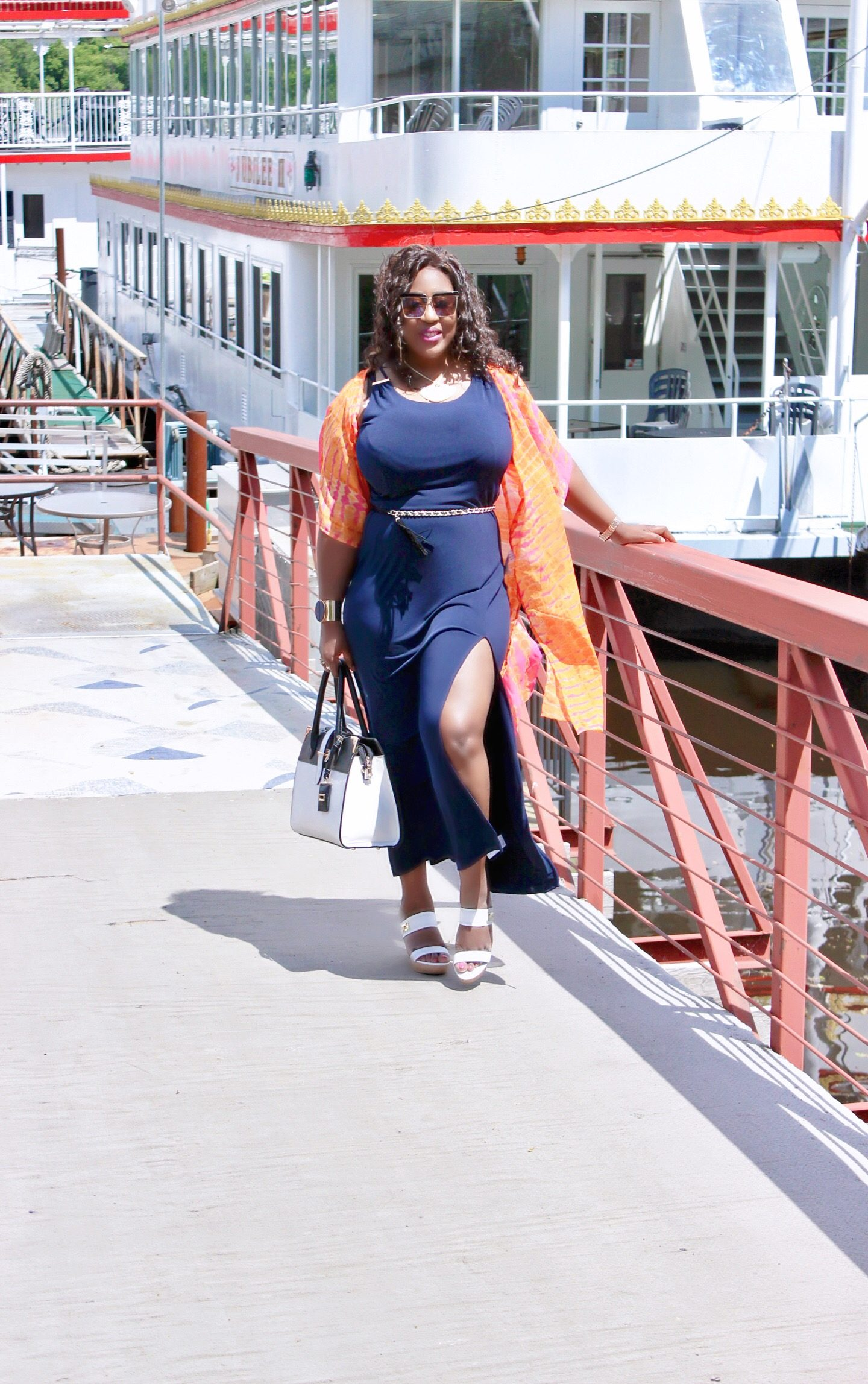 Blue-Maxi-dress-kimono-style