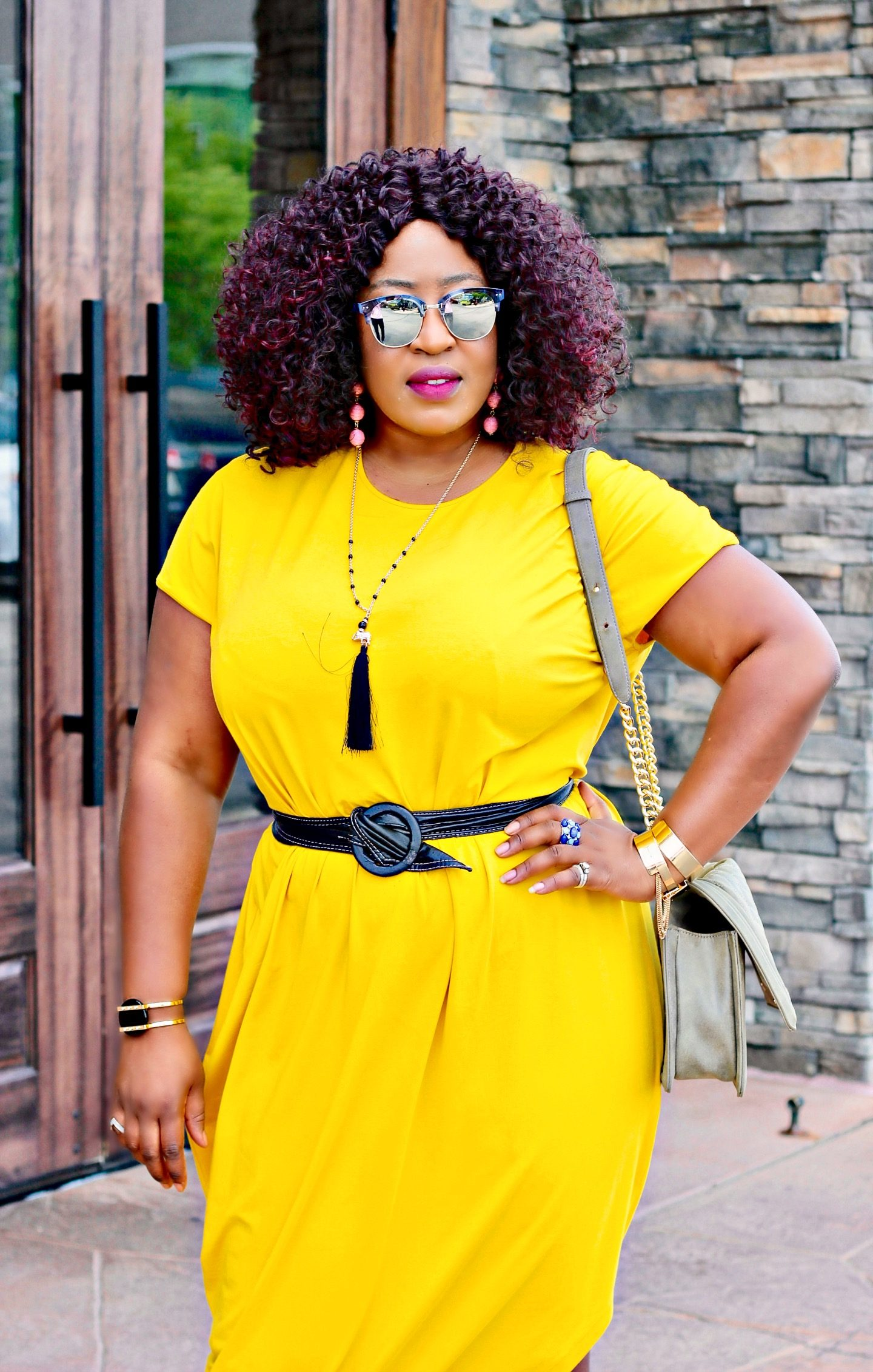 Oversized-yellow-dress