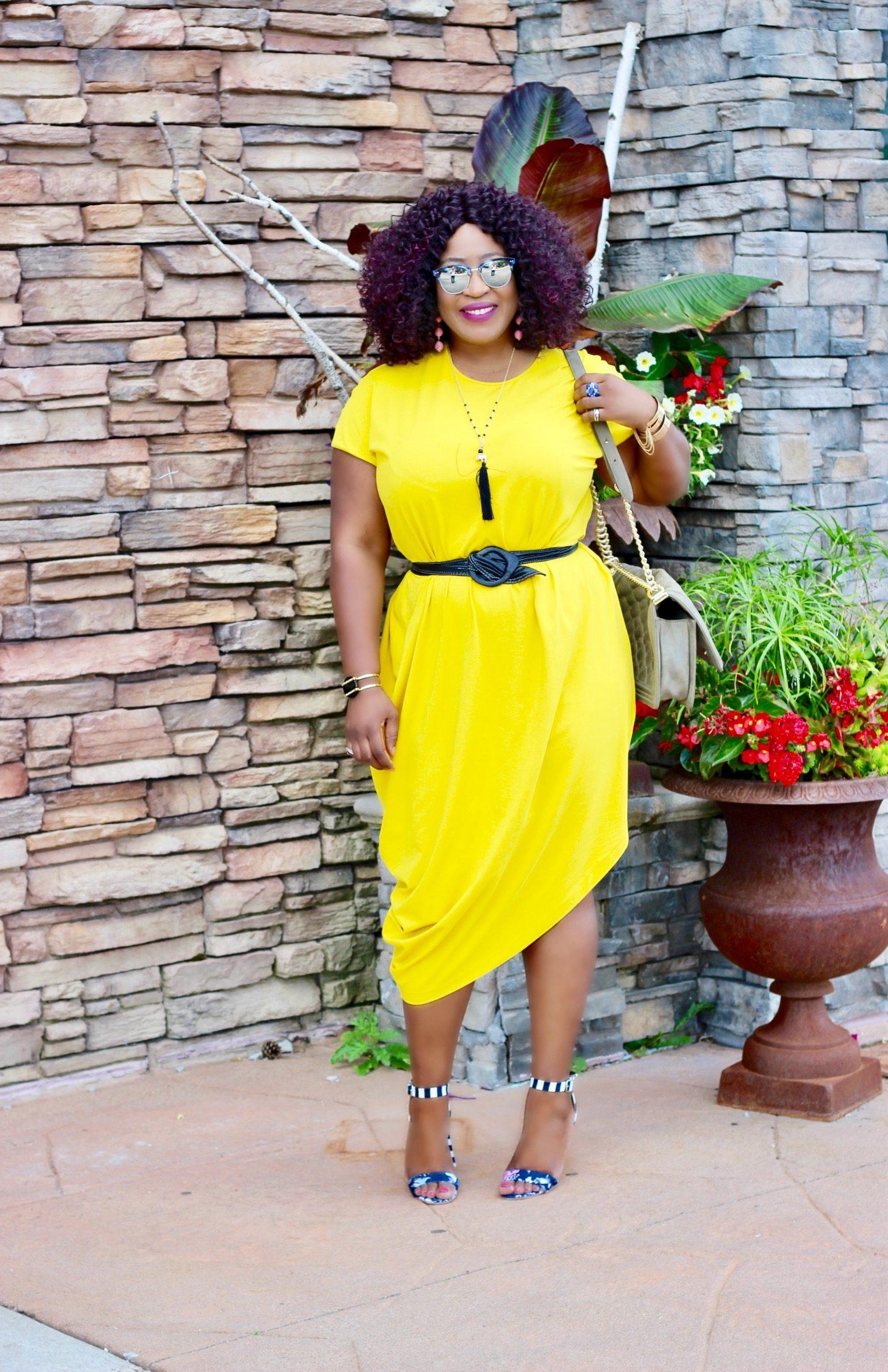 Asymmetric-Geneva-yellow-dress