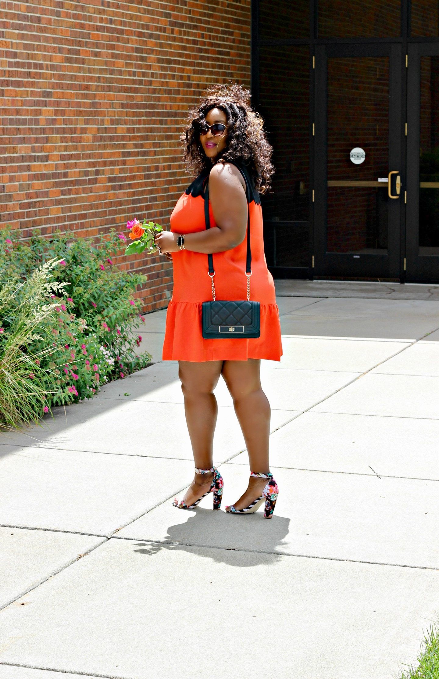 Summer-orange-short-dress