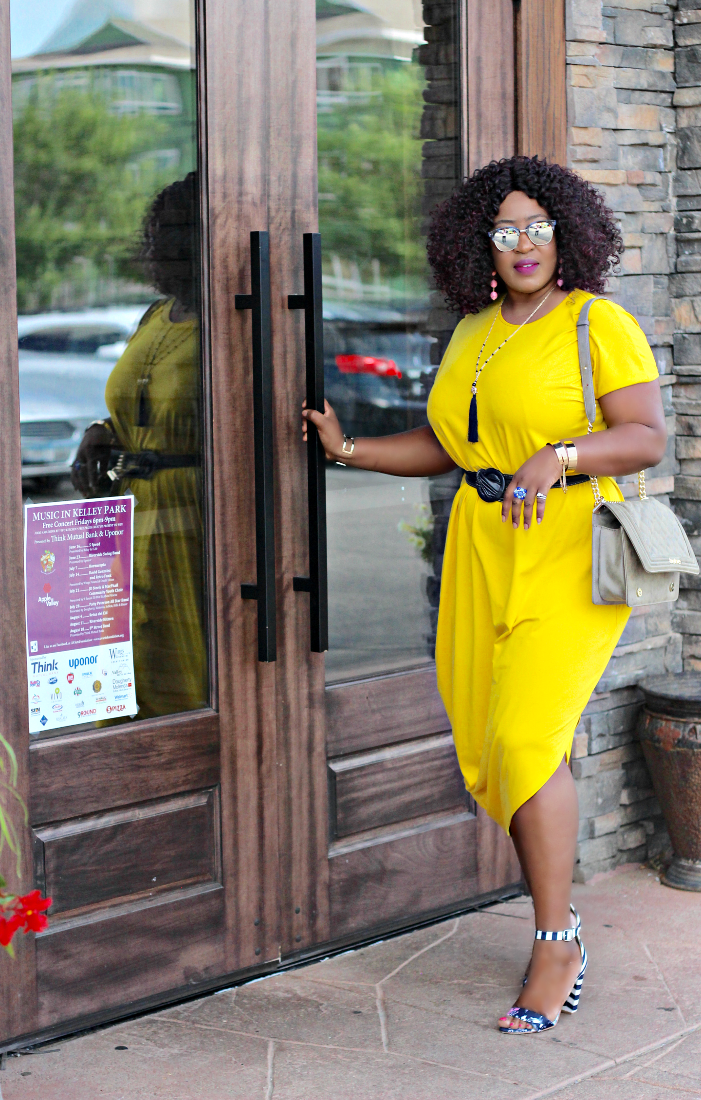 Oversized-asymmetric-yellow-dress