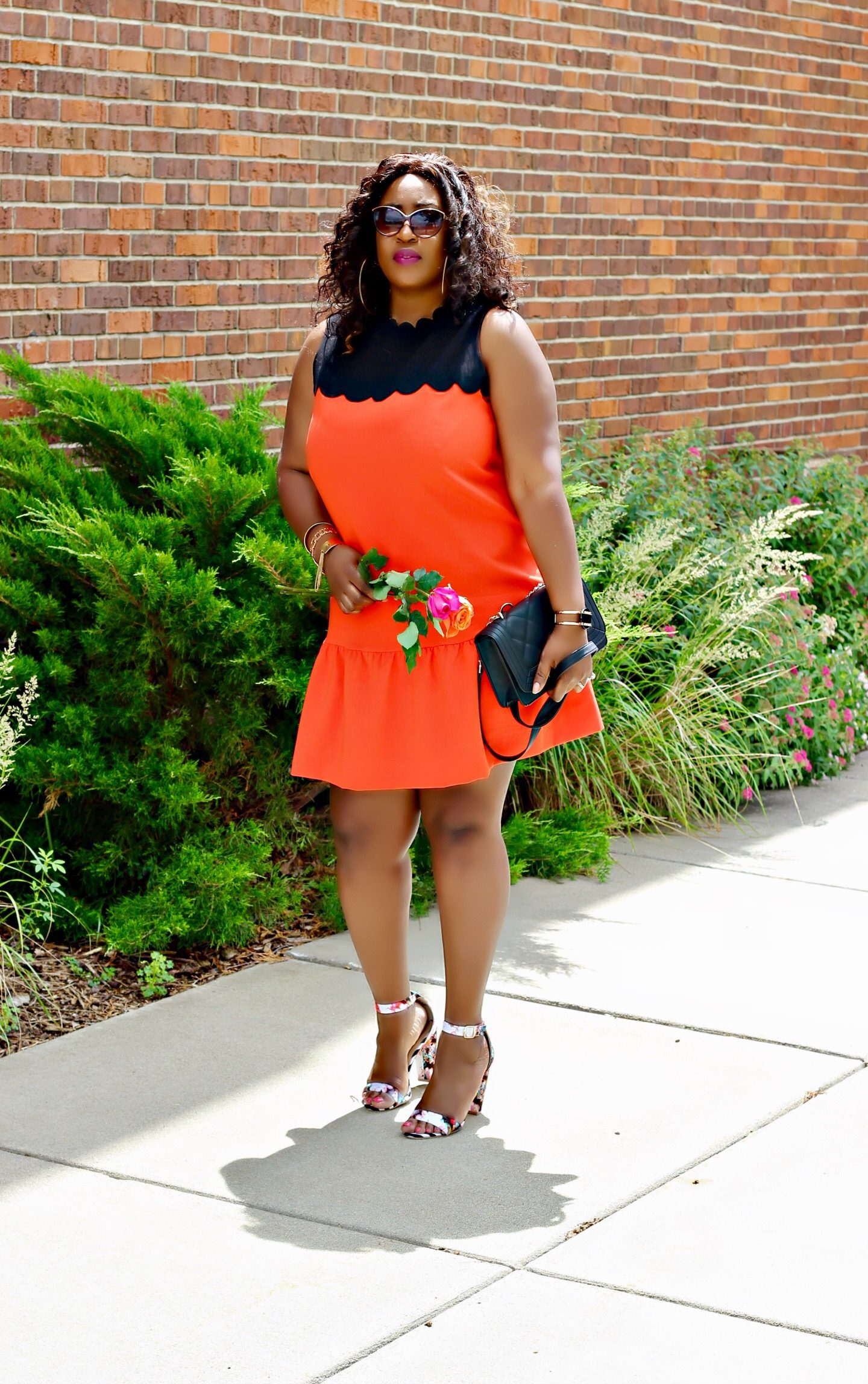 Orange-and-black-Summer-dress