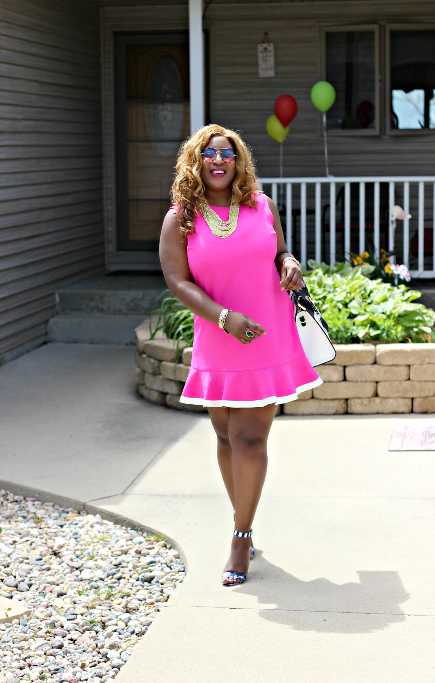Victoria-secret-for-target-pink-dress