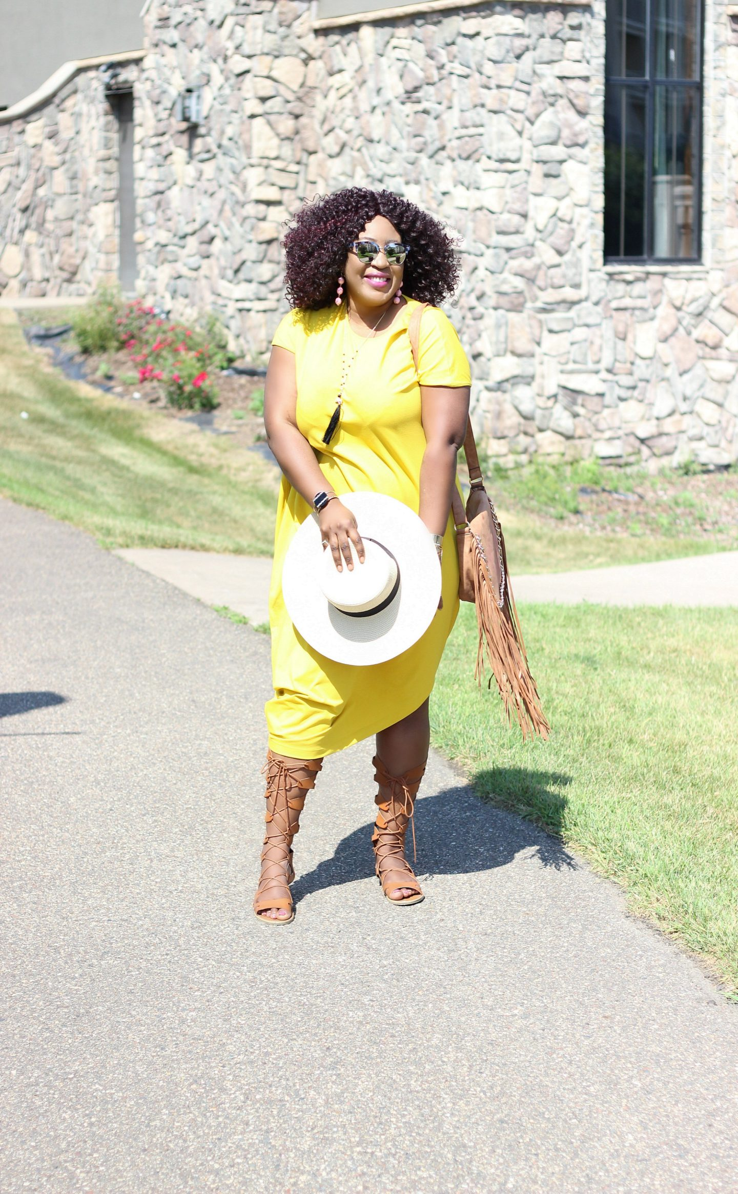 Casual-style-yellow-geneva-dress