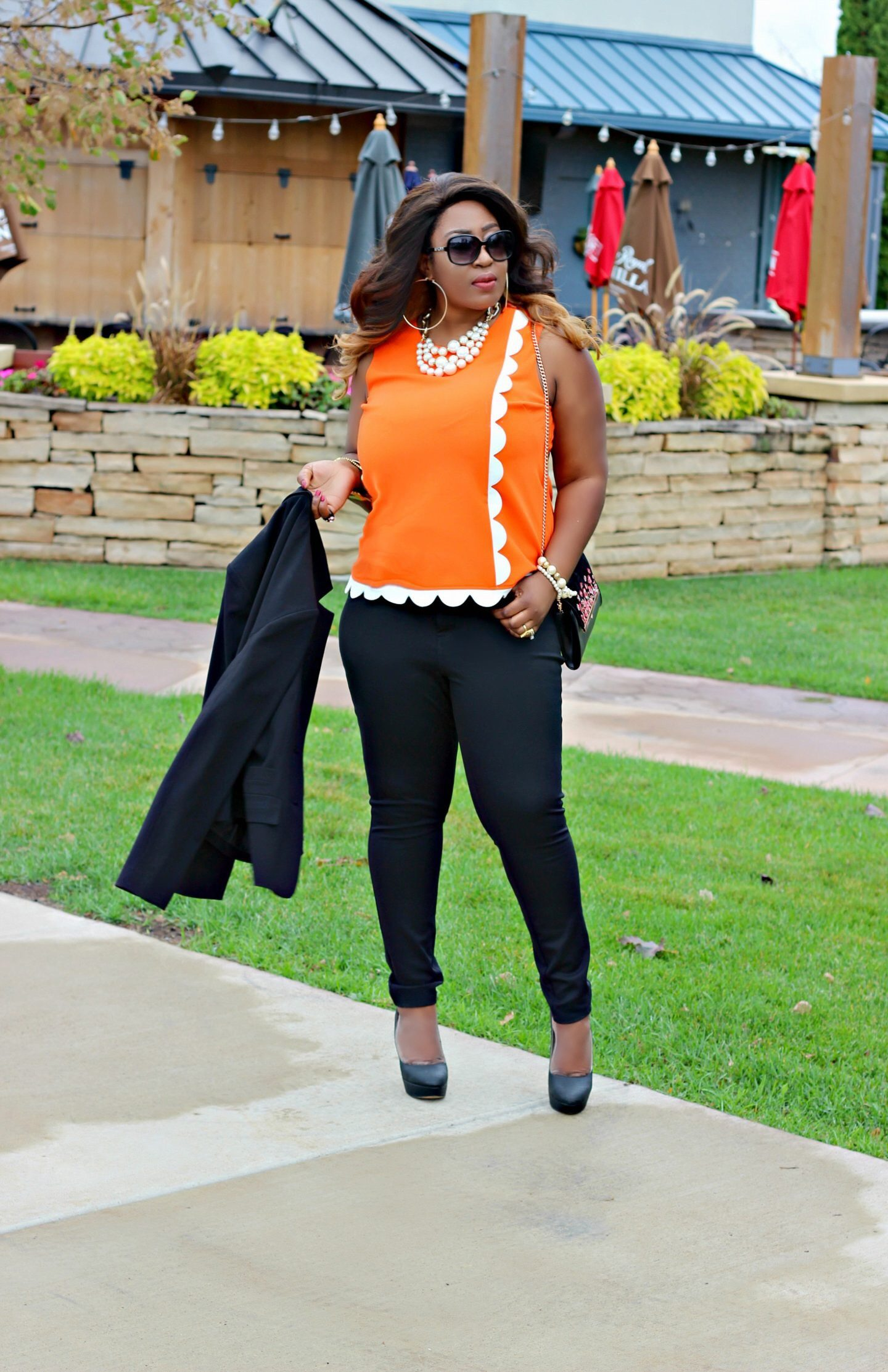 Making Boss Moves | Chic Orange Top Outfit