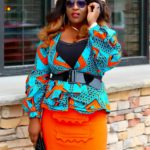Statement Sleeves Ankara Peplum Top
