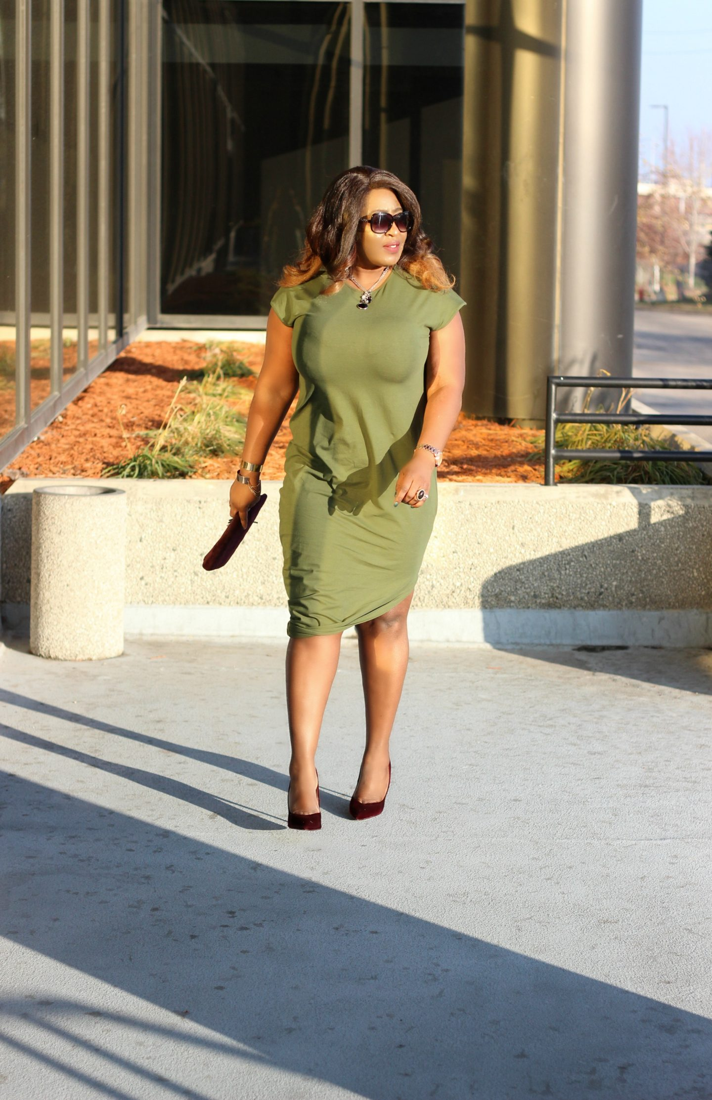 beautiful-asymmetric-olive-dress