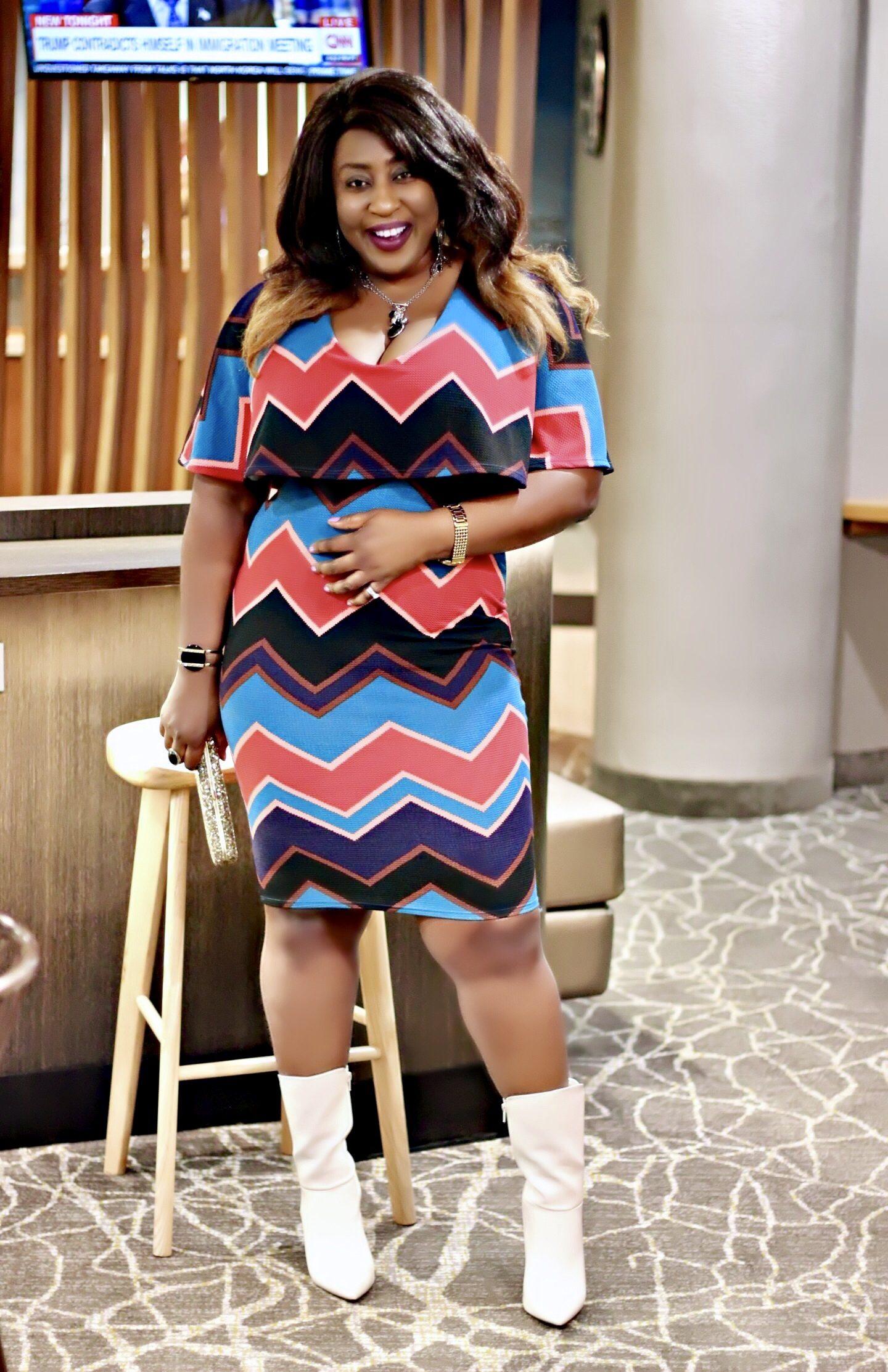 Aztec-midi-dress