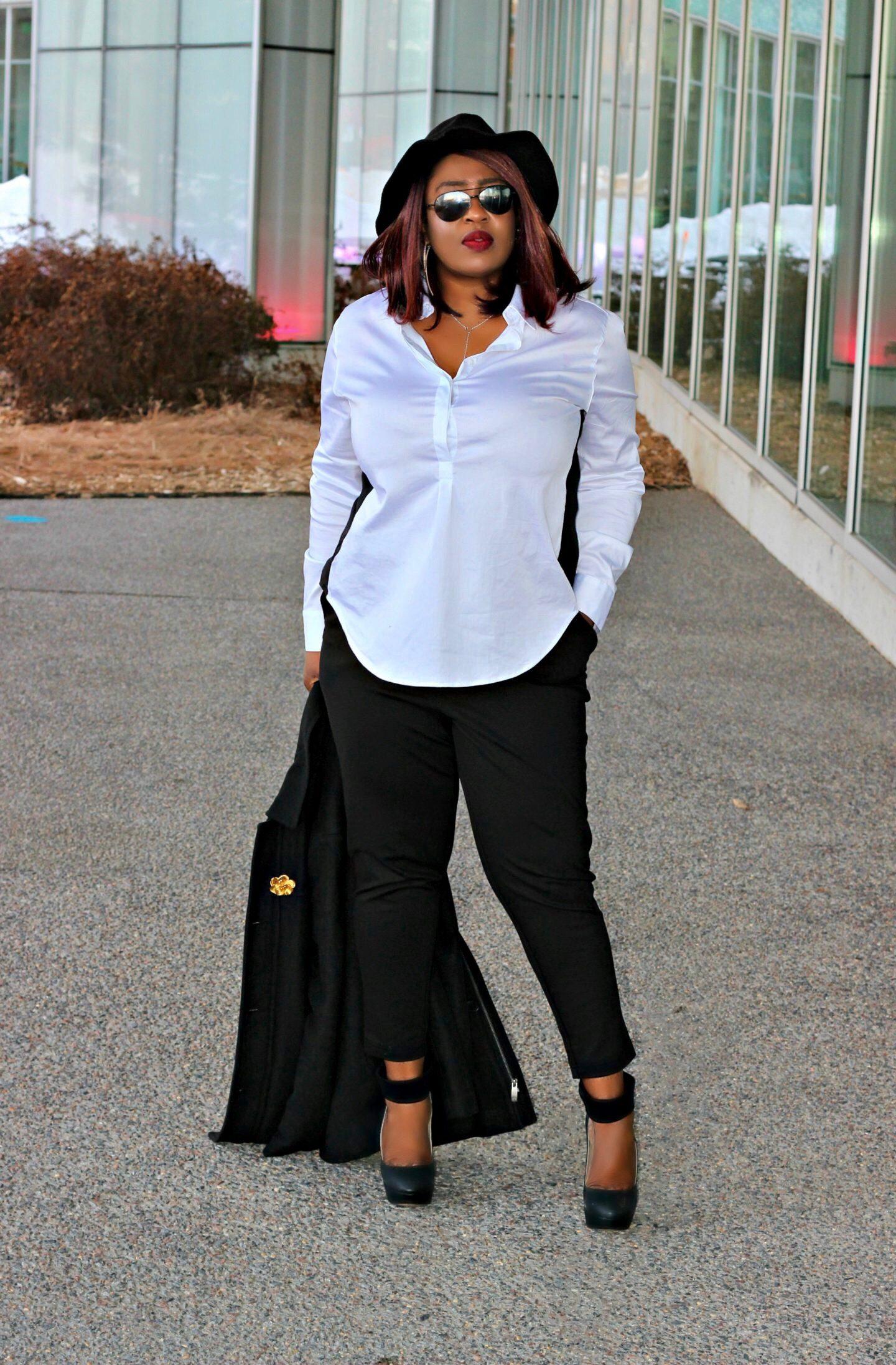 Stylish-white-and-black-workwear