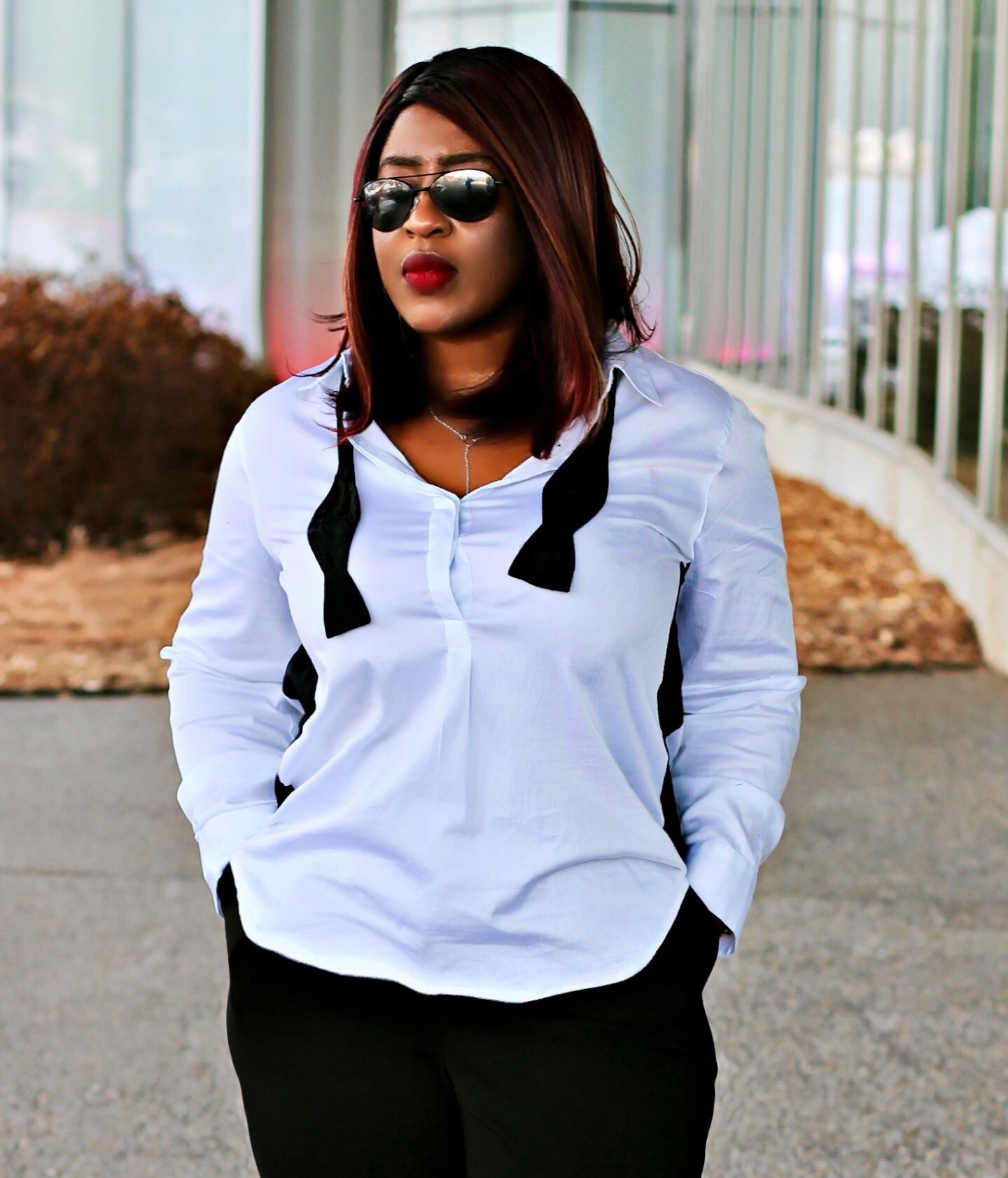 Different ways to wear black and white.