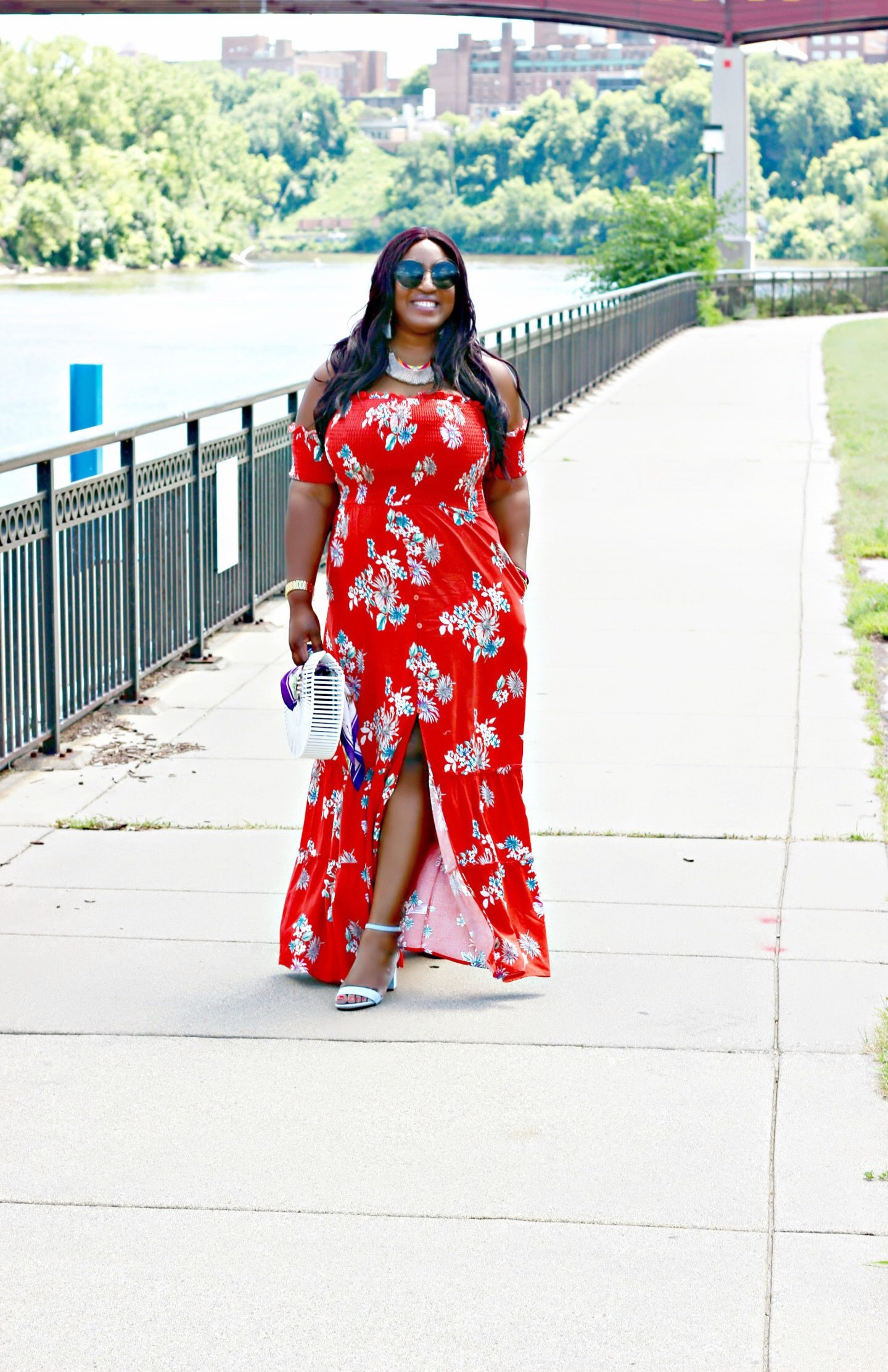 Beautiful-prints-off-shoulder-maxi