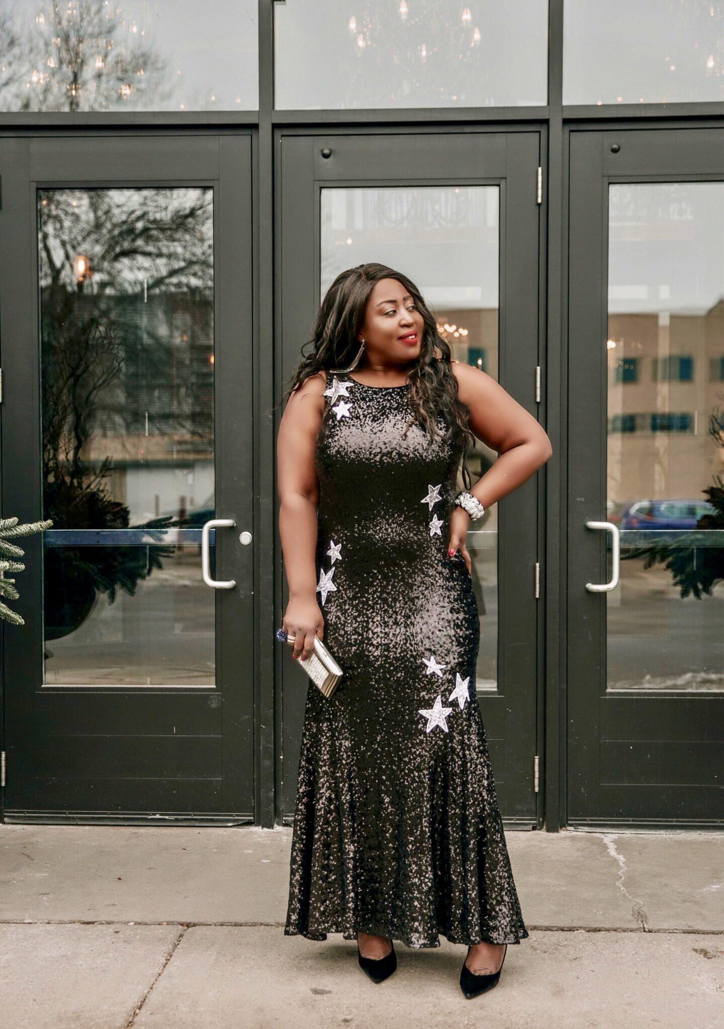 Beautiful-black-sequin-gown