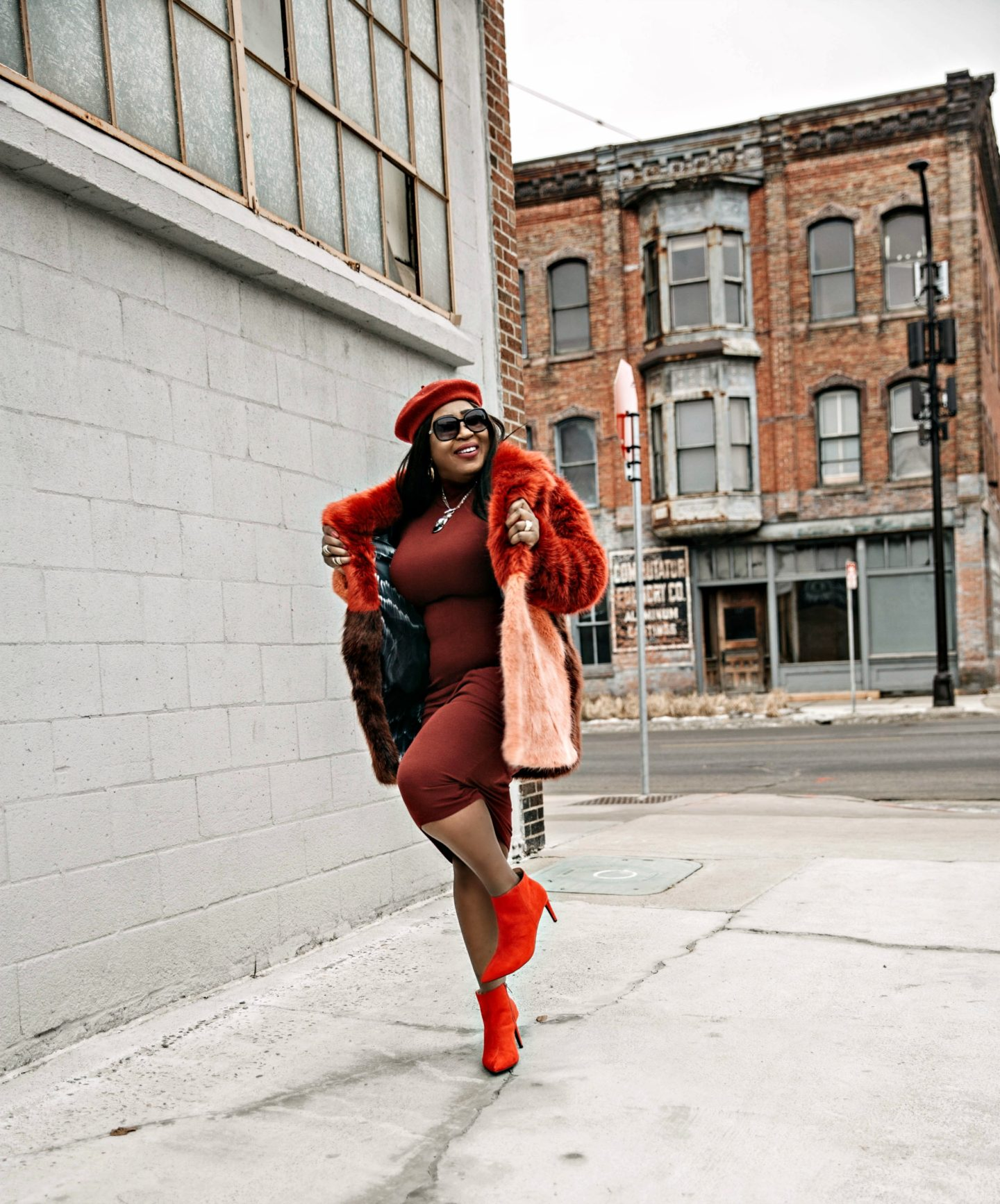 beautiful-black-blogger-all-red