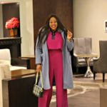 Spring Preview In Bright Pink Jumpsuit