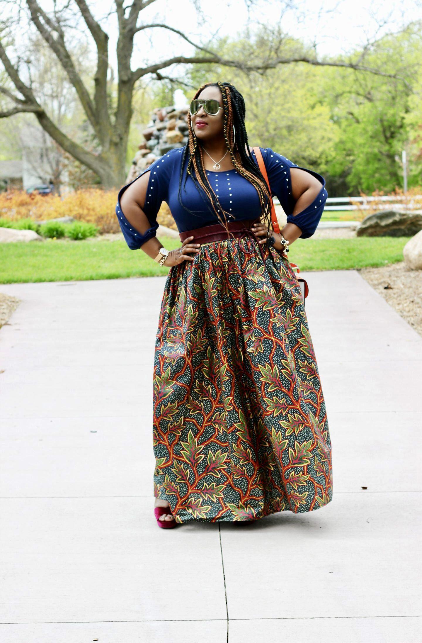 African-print-maxi-skirt