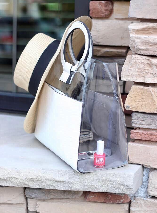 cute-accessories-white-clear-bag-summer-hat