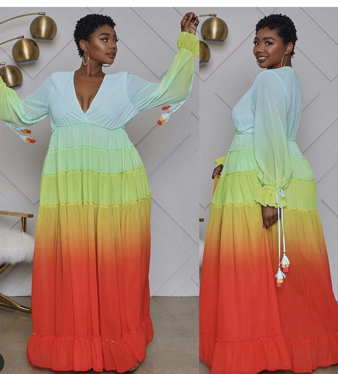 beautiful-color-block-maxi-dress