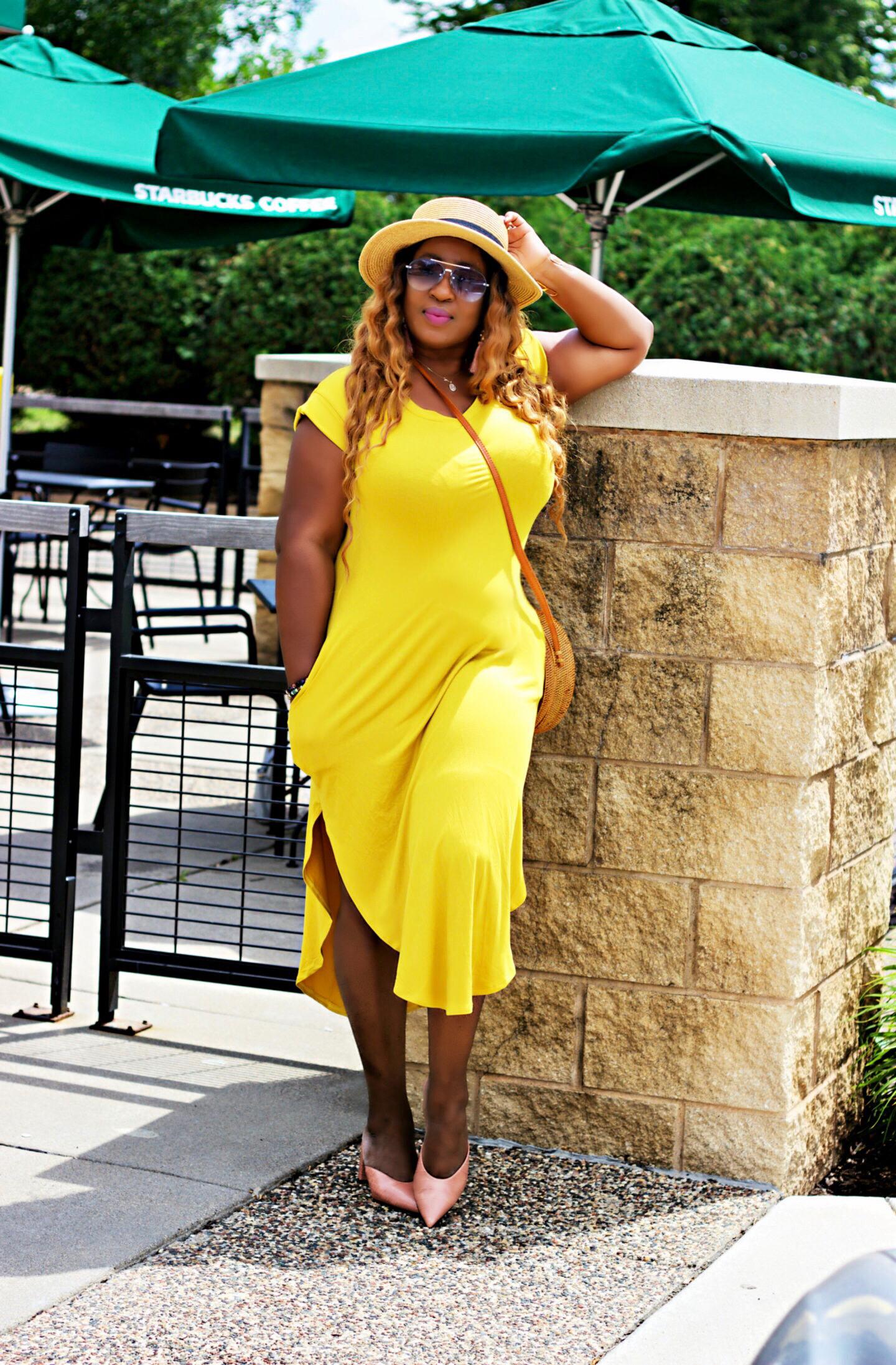 Yellow-midi-dress-clothing-boutique