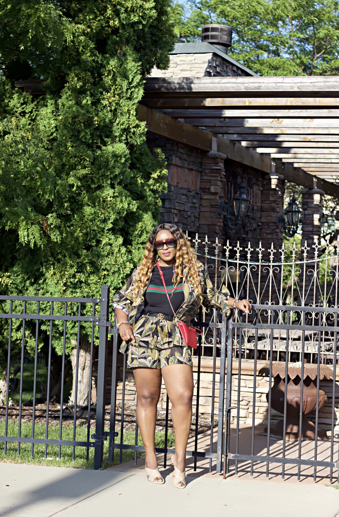 Falling Into Fall | Wearing Camouflage Short Set