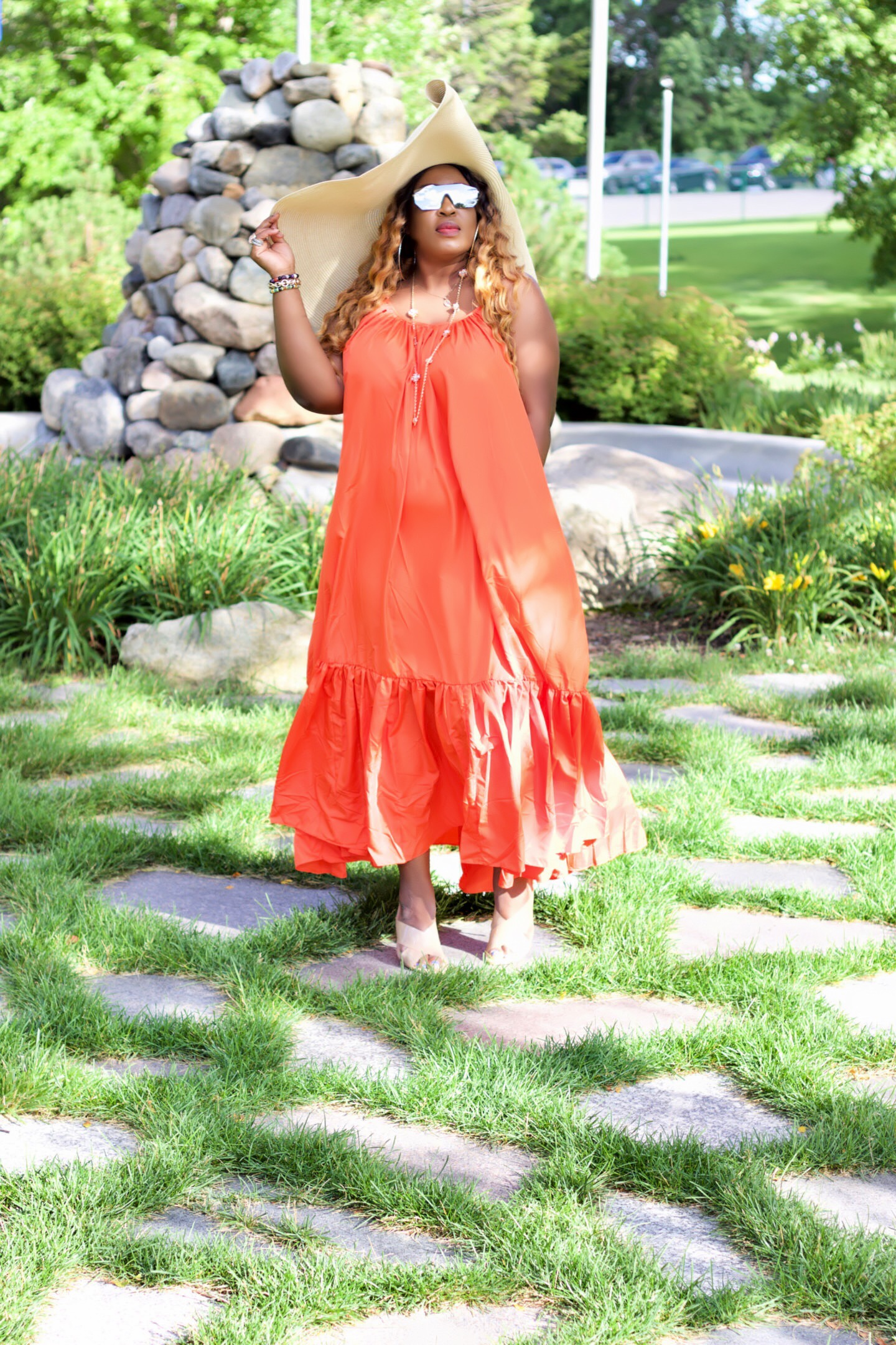 beautiful-orange-maxidress