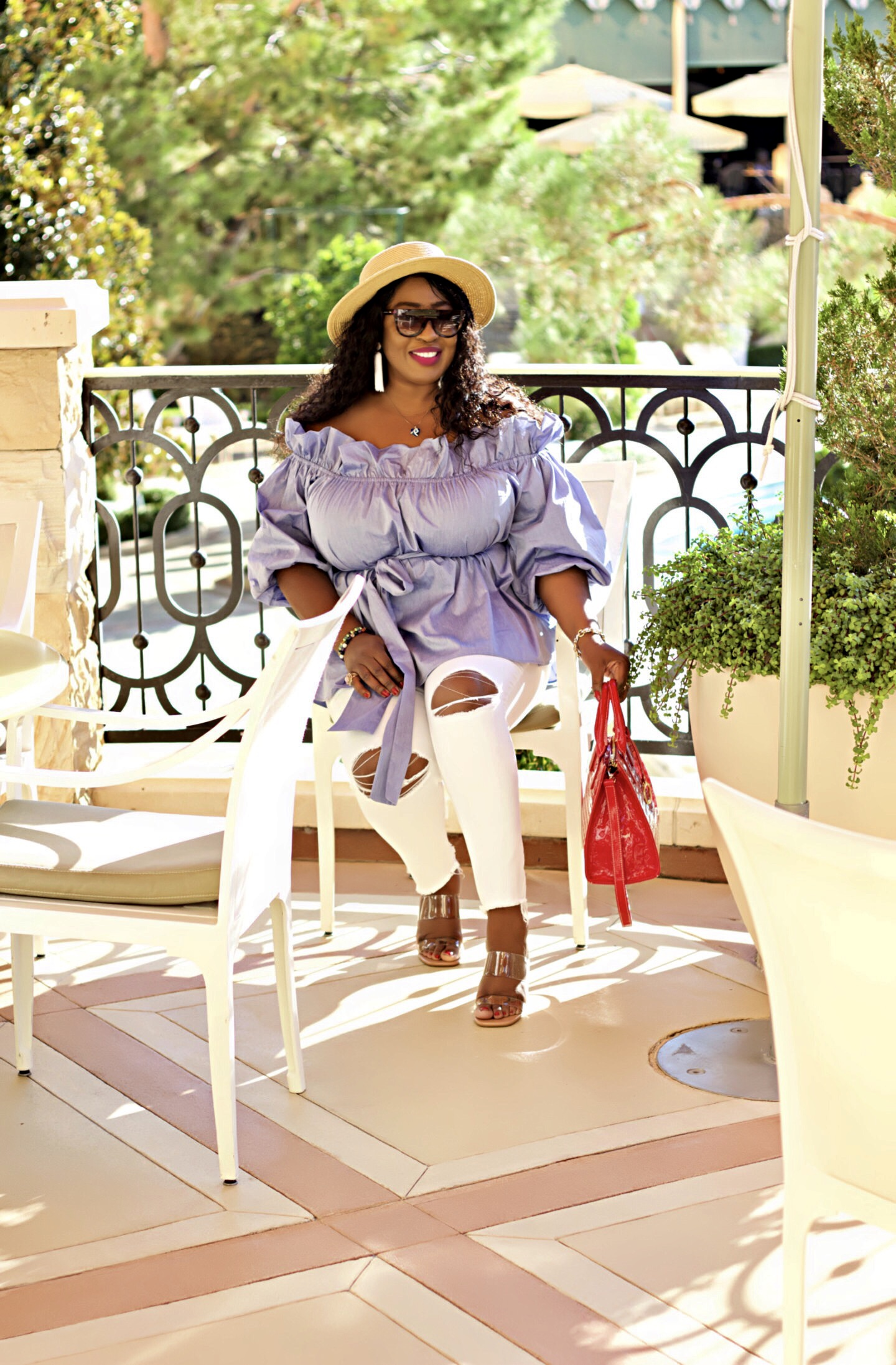 fabulous-black-woman-in-blue-and-white