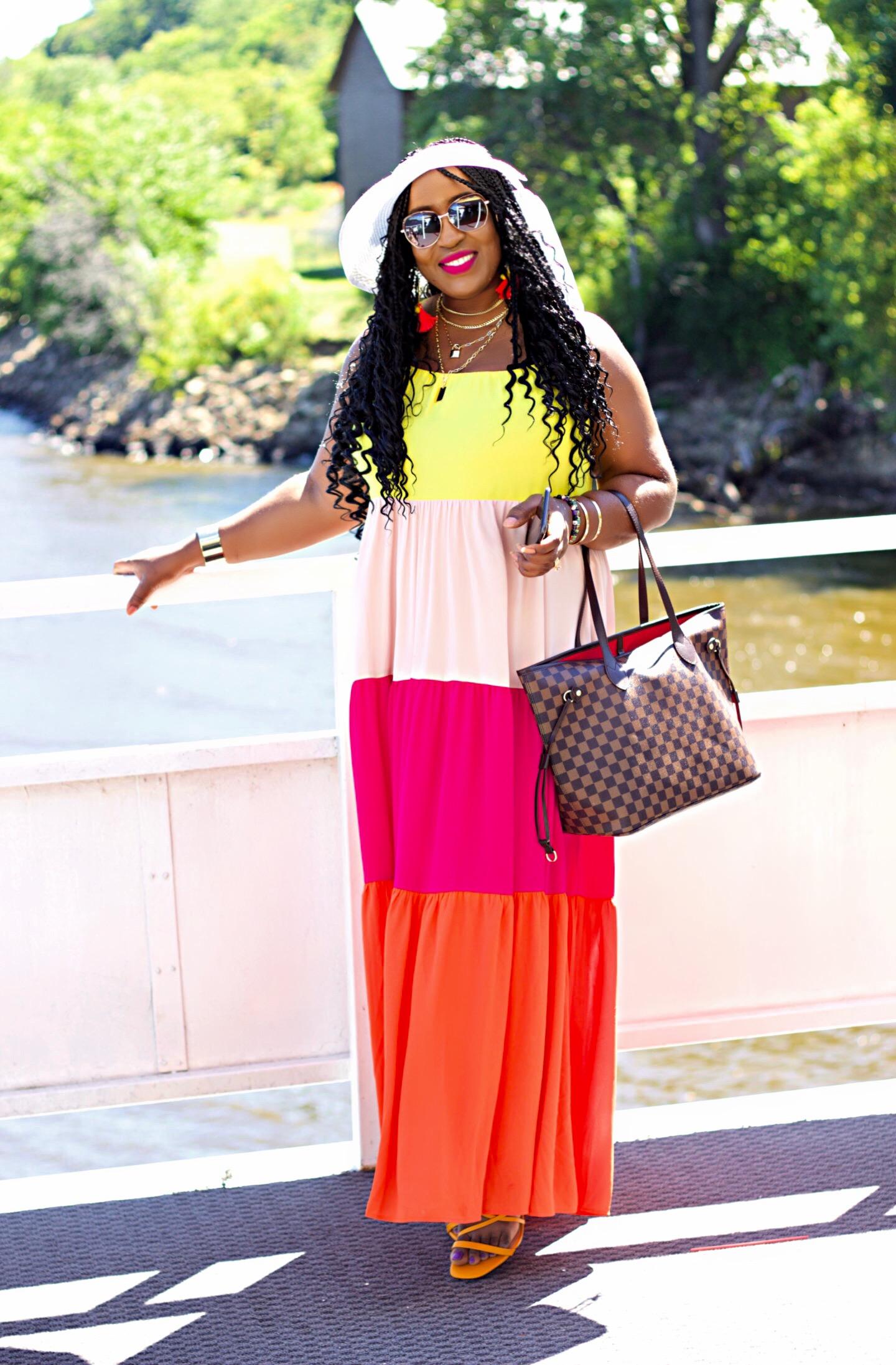 beautiful-express-colorblock-maxi-dress