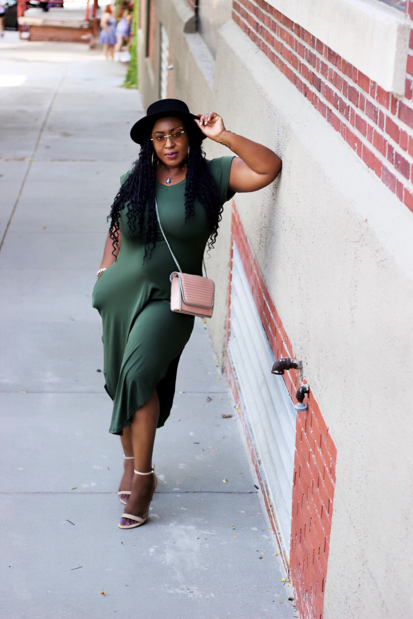 You're not alone| Olive Midi Dress
