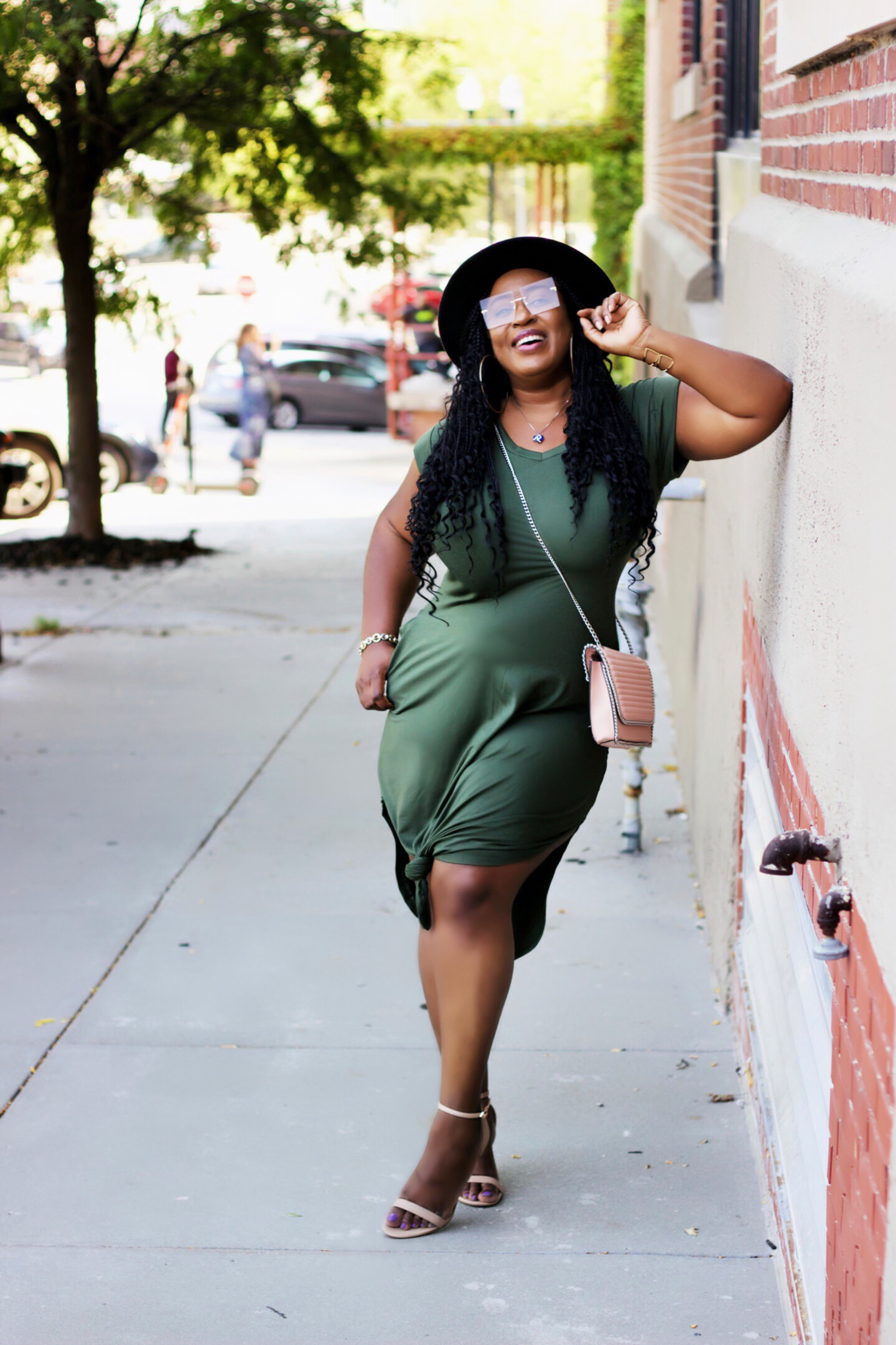 beautiful-olive-midi-dress