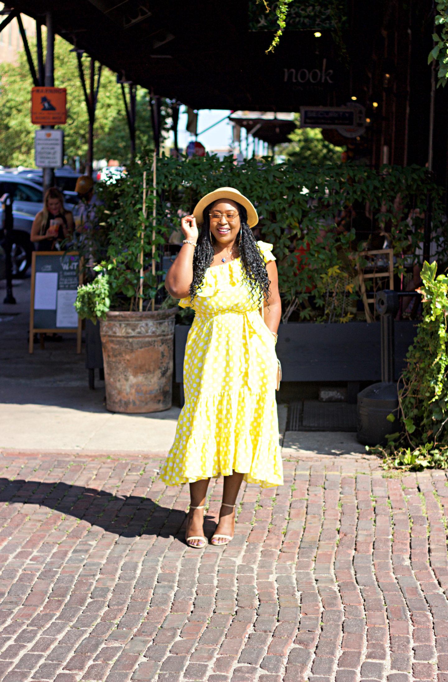 beautiful-yellow-polka-dot-dress