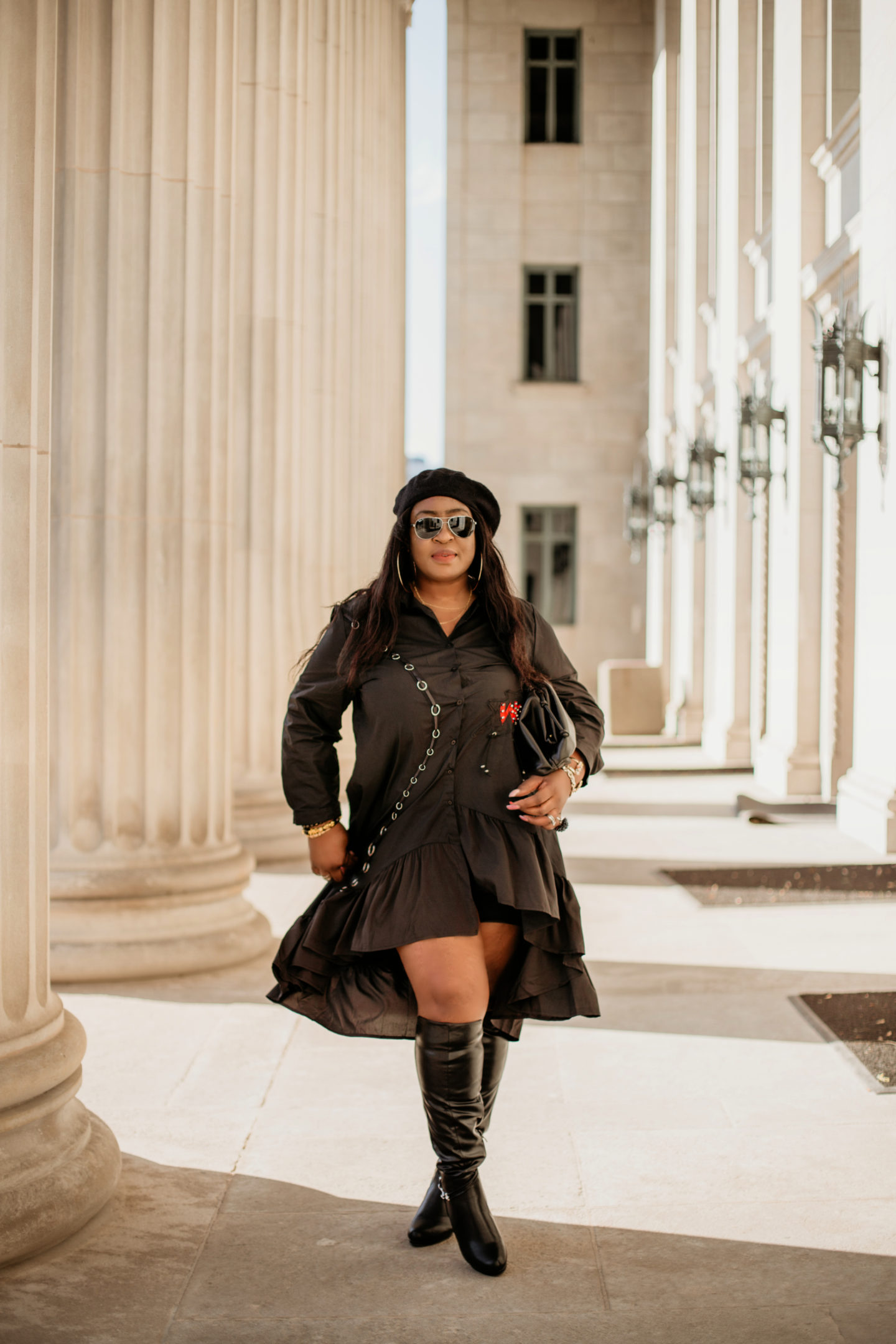 wow-black-dress-black-boots-all-black -outfit