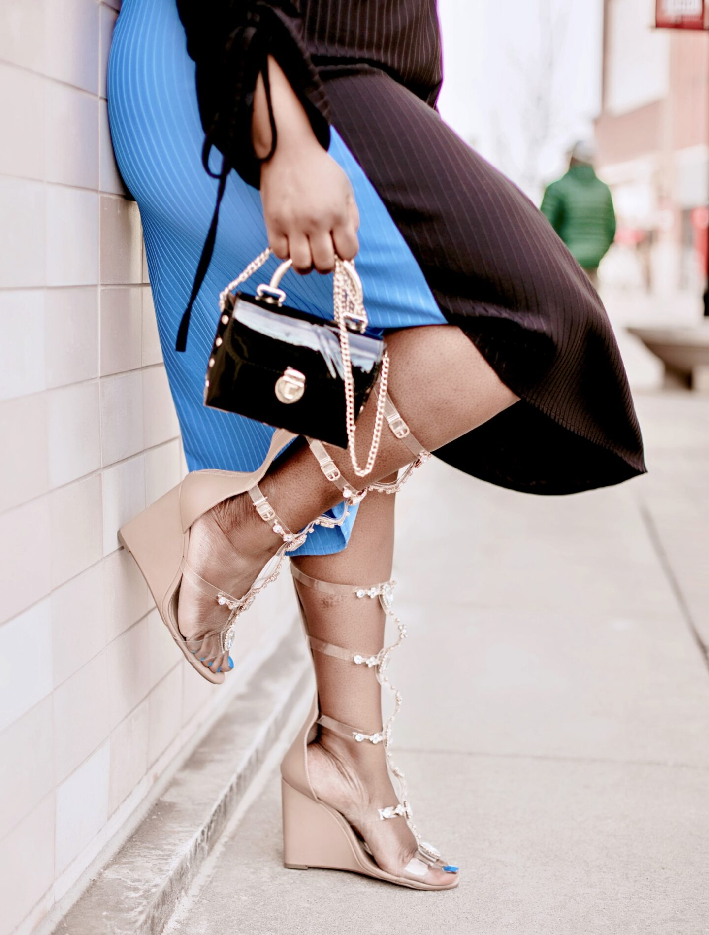 color-block-blue-black-midi-dress-zara