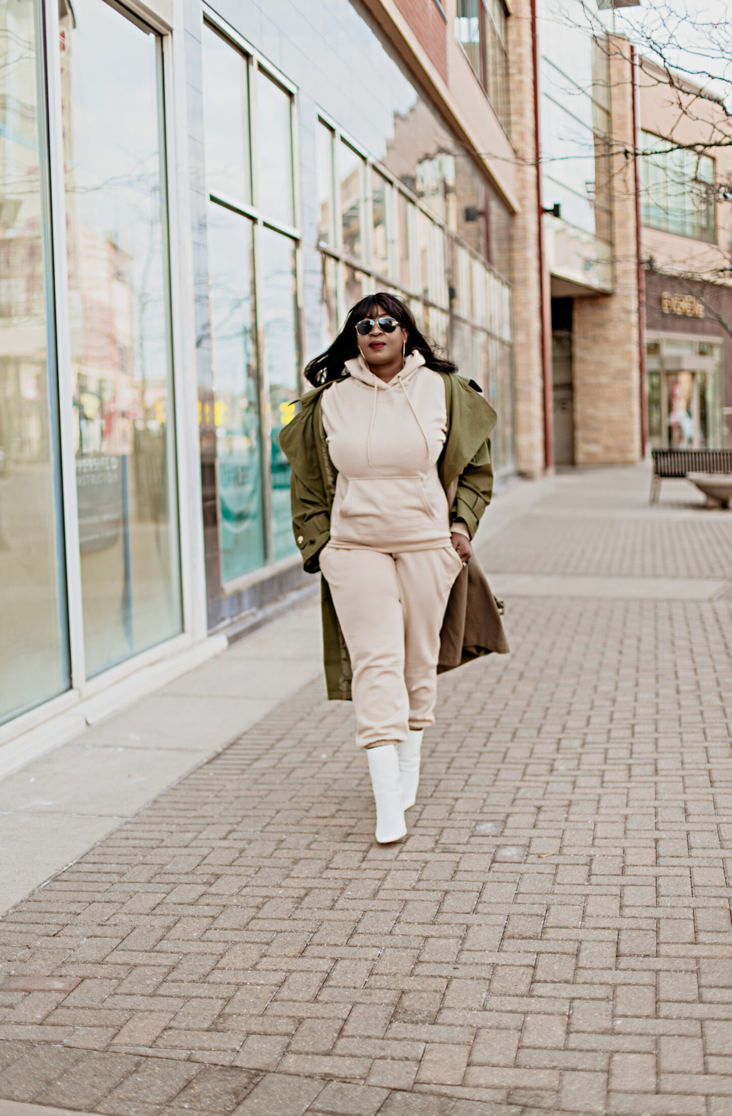 neutral-hoodie-jogger-set-spring-trench-coat