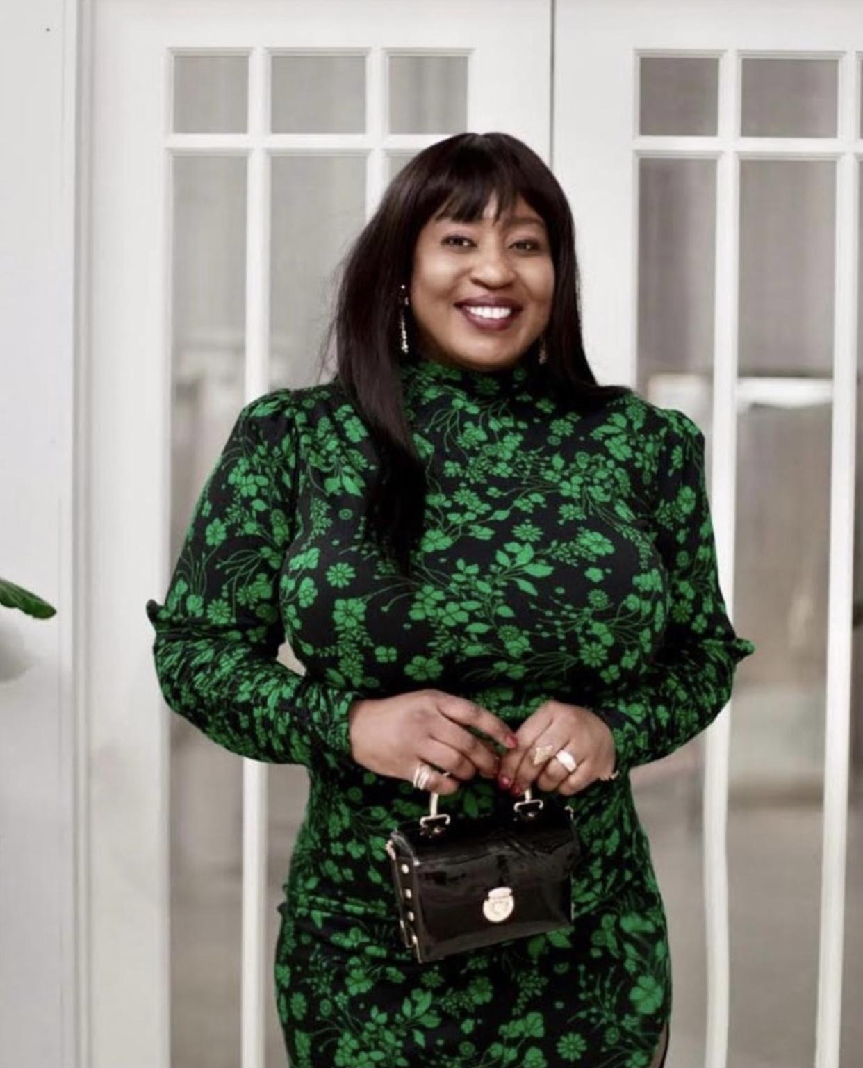 Beautiful-green-prints-midid-dress-target-hypnozglam